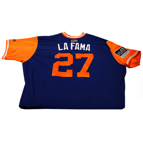 """Photo of Jeurys """"La Fama"""" Familia New York Mets Game-Used Players Weekend Jersey"""