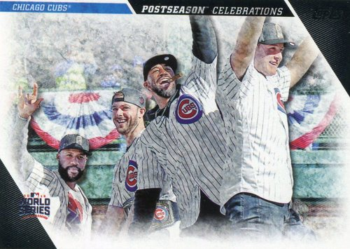 Photo of 2017 Topps Update Postseason Celebration #PC17 Chicago Cubs