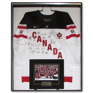 Team Canada 2015 World Junior Champions Multi-Signed Framed Jersey - McDavid, Nurse, Domi & More