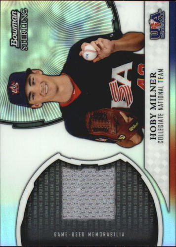 Photo of 2011 Bowman Sterling USA Baseball Relics #HM Hoby Milner