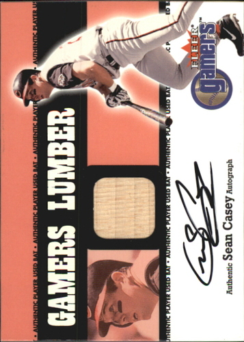 Photo of 2000 Fleer Gamers Signed Lumber #2 Sean Casey