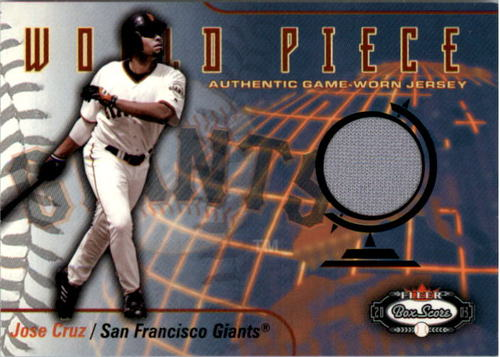 Photo of 2003 Fleer Box Score World Piece Game Jersey #JC Jose Cruz Jr. SP/100