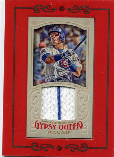 Photo of 2016 Topps Gypsy Queen Mini Relics  Javier Baez game-worn jersey