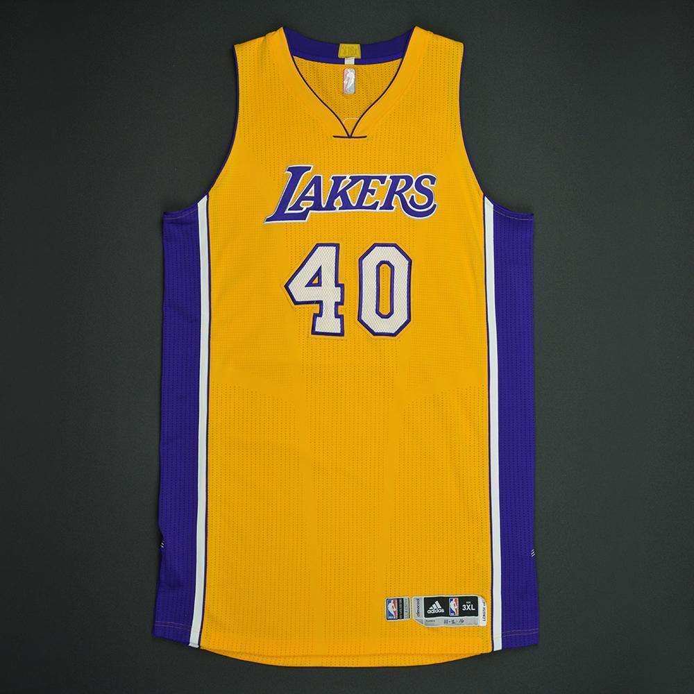 Ivica Zubac - Los Angeles Lakers - Game-Worn Rookie Debut Jersey - 2016-17 Season