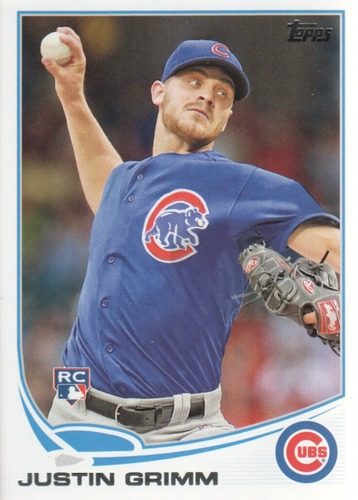 Photo of 2013 Topps Update #US17 Justin Grimm Rookie Card Rookie Card Cubs post-season