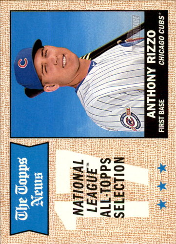 Photo of 2017 Topps Heritage #372 Anthony Rizzo Cubs post-season