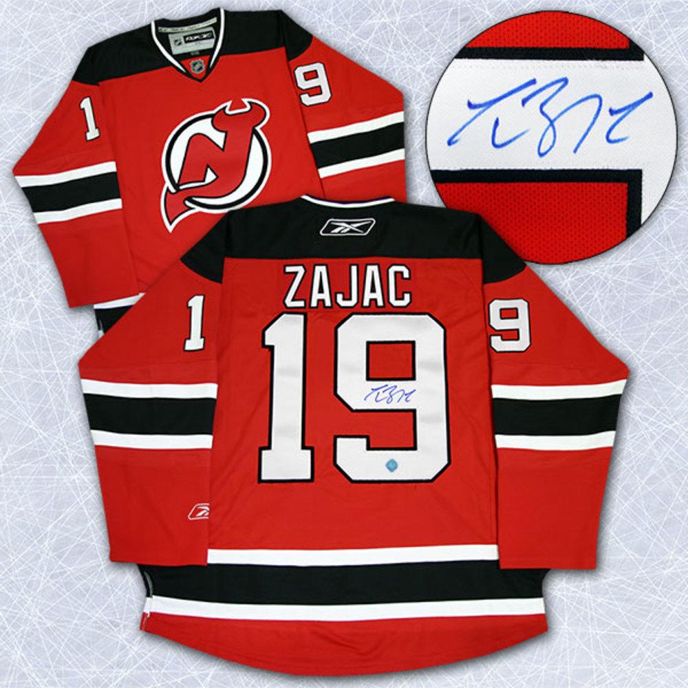 Travis Zajac New Jersey Devils Autographed Reebok Premier Hockey Jersey