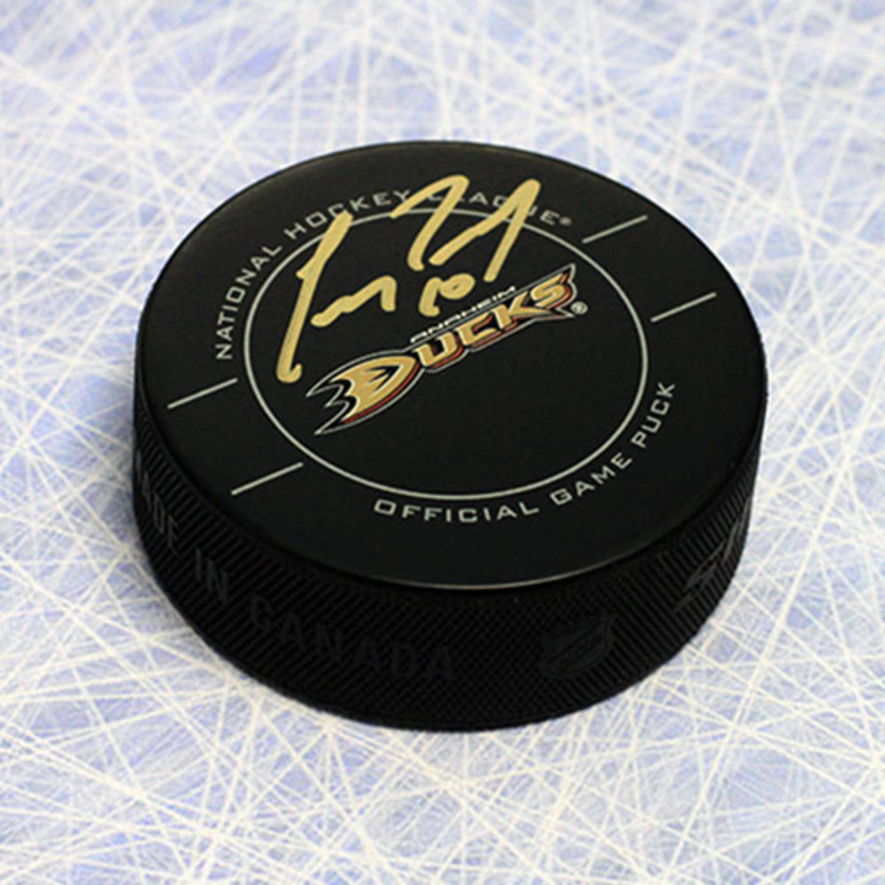 Corey Perry Anaheim Ducks Autographed Official NHL Game Puck