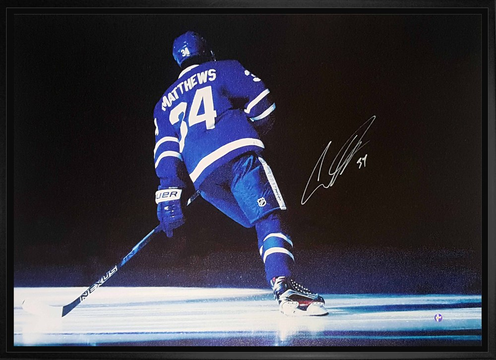Auston Matthews - Signed & Framed 20x29