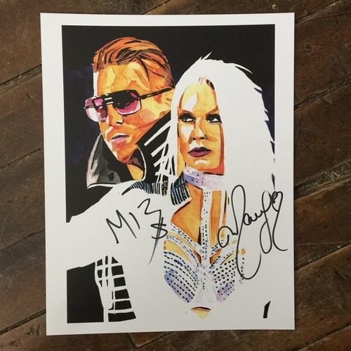 Photo of Miz & Maryse SIGNED 11 x 14 Rob Schamberger Print