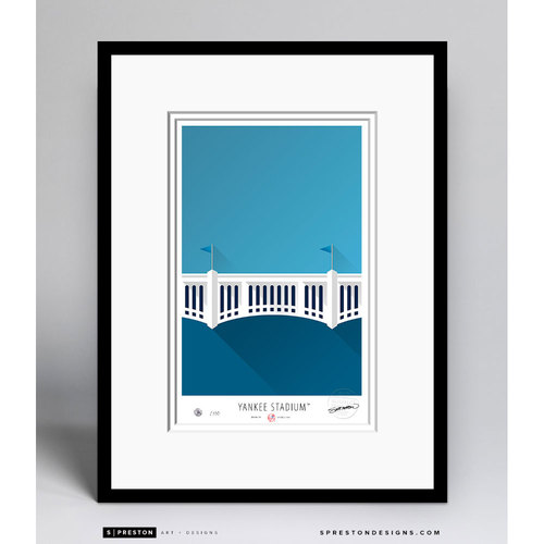 Minimalist Yankee Stadium Collectors Edition Framed Print (Limited Edition #172/350)