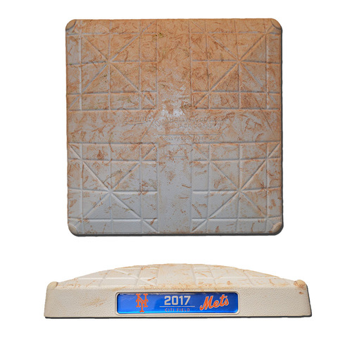 Photo of Game Used Base - 1st Base, Innings 1-3 - Mike Trout Hits Home Run in 2nd Inning - Mets vs. Angels - 5/21/17