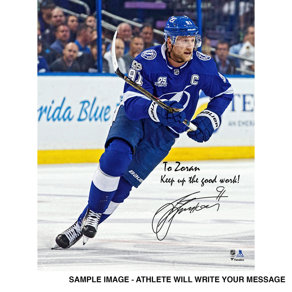 Steven Stamkos Tampa Bay Lightning Autographed Personalized 8