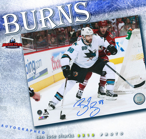 BRENT BURNS Signed San Jose Sharks 8 X 10 Photo - 70306