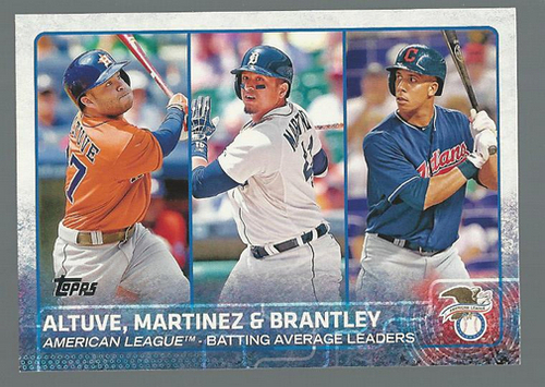 Photo of 2015 Topps #2 Jose Altuve/Victor Martinez/Michael Brantley LL