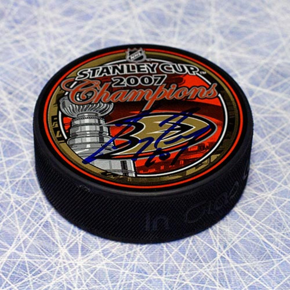 Corey Perry Anaheim Ducks Autographed 2007 Stanley Cup Puck