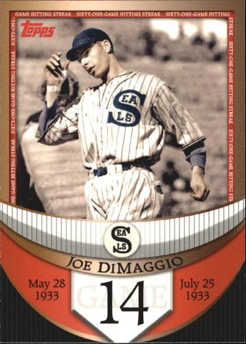 Photo of 2007 Topps DiMaggio Streak Before the Streak #JDSF14 Joe DiMaggio