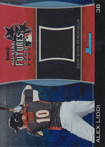 Photo of 2011 Bowman Draft Future's Game Relics Blue #AL Alex Liddi