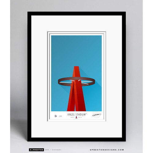 Minimalist Angel Stadium Collectors Edition Framed Print (Limited Edition #225/350)