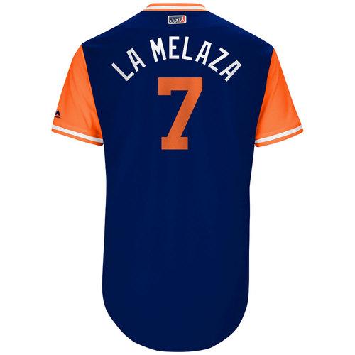 "Photo of Jose ""La Melaza"" Reyes New York Mets Game-Used Players Weekend Jersey"