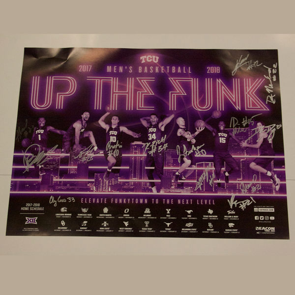 2017 Men's Basketball Team Autographed Poster