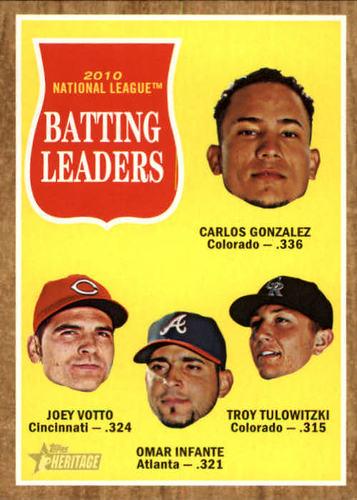 Photo of 2011 Topps Heritage #52 Carlos Gonzalez/Joey Votto/Omar Infante/Troy Tulowitzki