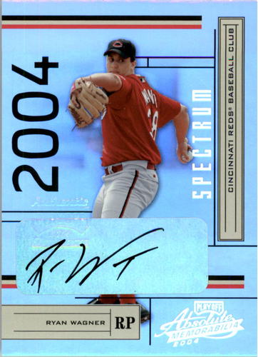 Photo of 2004 Absolute Memorabilia Signature Spectrum Silver #62 Ryan Wagner/100