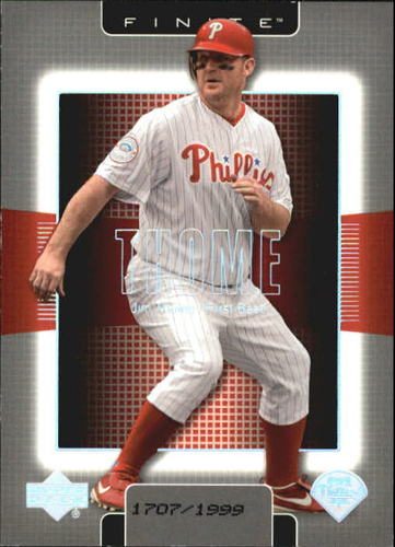 Photo of 2003 Upper Deck Finite #76 Jim Thome