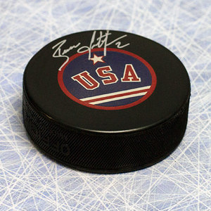 Brian Leetch Team USA Autographed Olympic Hockey Puck *New York Rangers*