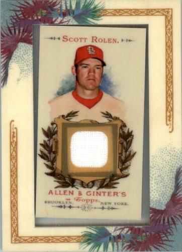 Photo of 2007 Topps Allen and Ginter Relics #SR1 Scott Rolen G