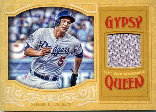 Photo of 2016 Topps Gypsy Queen Relics Gold  Corey Seager 20/50 game-worn jersey