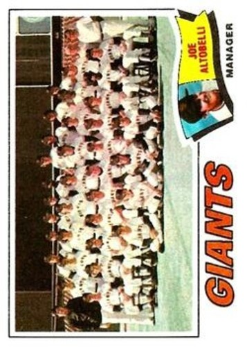 Photo of 1977 Topps #211 San Francisco Giants CL/Joe Altobelli MG