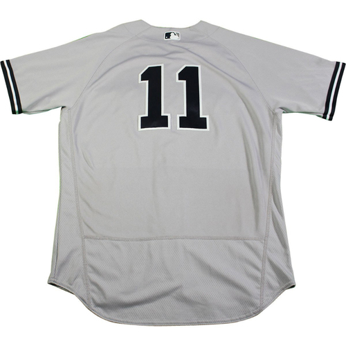 Photo of Brett Gardner New York Yankees 2017 Game-Used #11 Grey Jersey (6/16/2017)(Size 44)