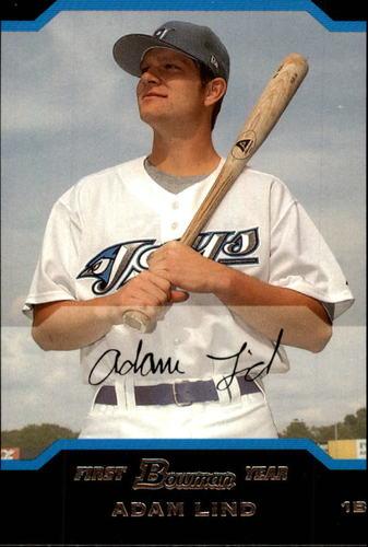 Photo of 2004 Bowman Chrome Draft #111 Adam Lind Rookie Card -- Nationals post-season