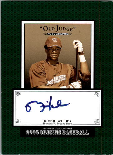 Photo of 2005 Origins Old Judge Autographs #RW Rickie Weeks T2