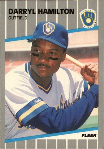 Photo of 1989 Fleer Glossy #187 Darryl Hamilton