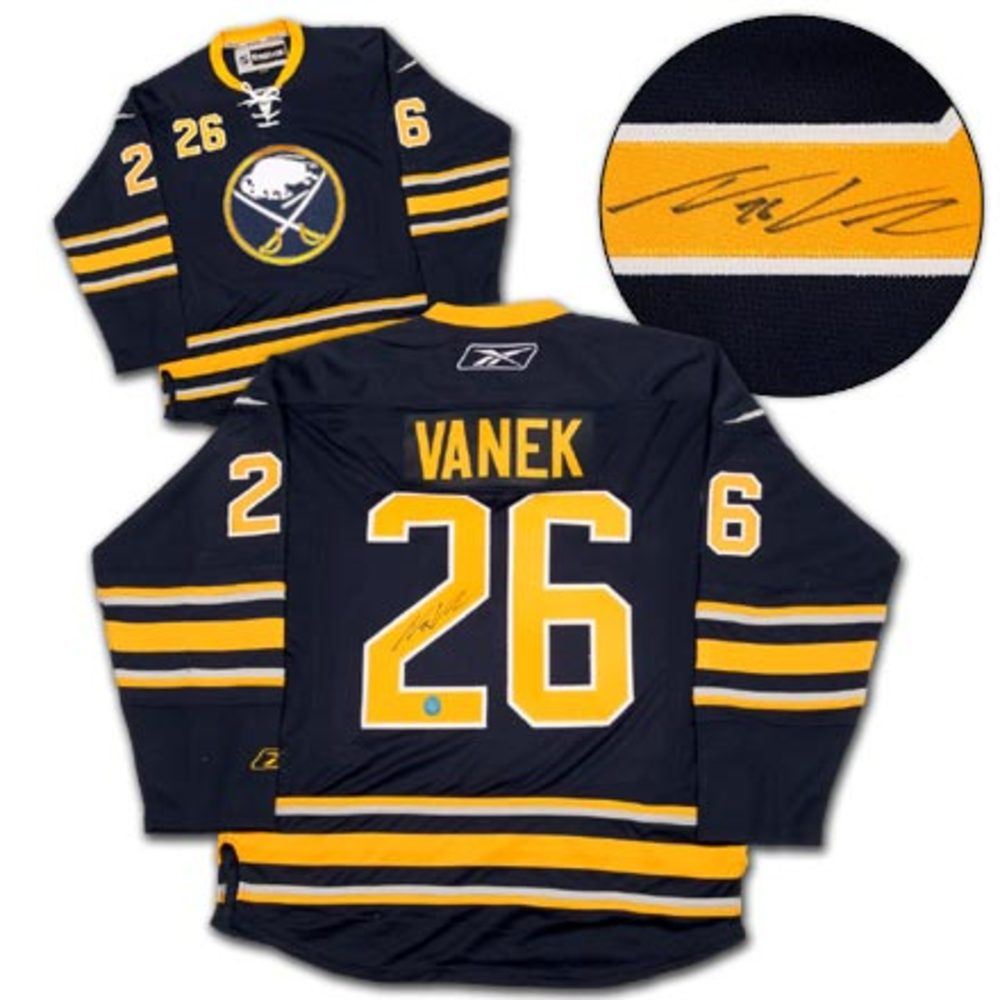 THOMAS VANEK Buffalo Sabres SIGNED NHL Premier Hockey Jersey