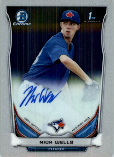 Photo of 2014 Bowman Chrome Draft Draft Pick Autographs #BCANW Nick Wells
