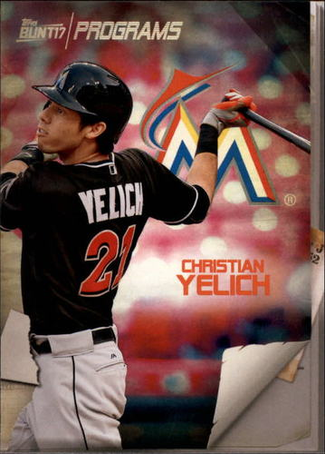 Photo of 2017 Topps Bunt Programs #PRCY Christian Yelich