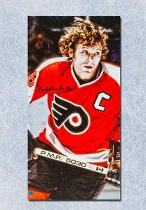 Bobby Clarke Philadelphia Flyers Autographed 14x28 Art Canvas