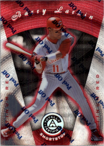 Photo of 1997 Pinnacle Totally Certified Platinum Red #25 Barry Larkin