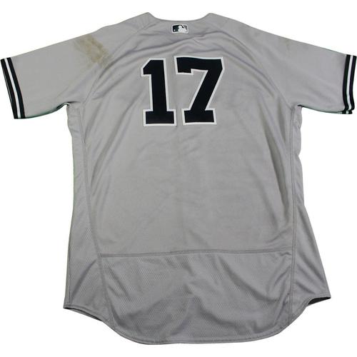 Photo of Matt Holliday New York Yankees 2017 Game-Used #17 Grey Jersey (6/16/2017)(Size 46)