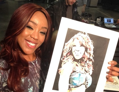 Alicia Fox Signed Painting by Rob Schamberger