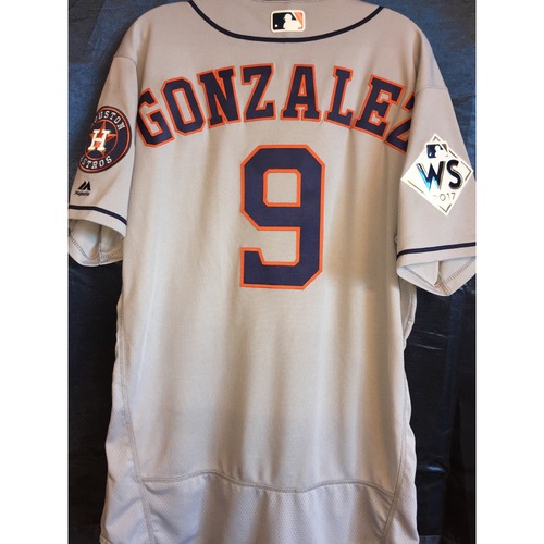 Photo of World Series Game 1 - Marwin Gonzalez Game-Used Road Jersey