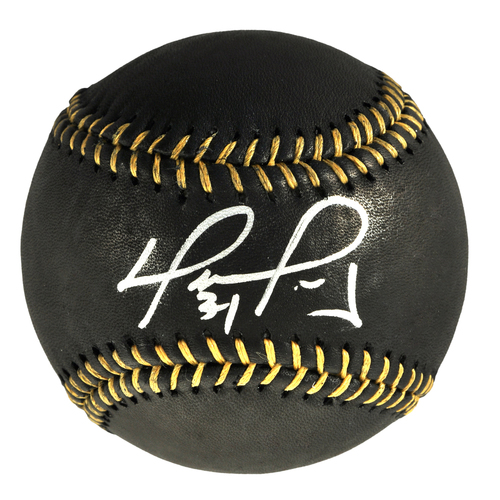 Photo of David Ortiz Boston Red Sox Autographed Black and Gold Baseball
