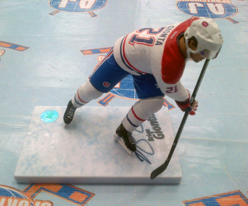Brian Gionta Montreal Canadiens Autographed McFarlane Figure (GIOB105080)