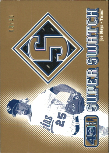 Photo of 2002 Upper Deck 40-Man Super Swatch Gold #SJM Joe Mays