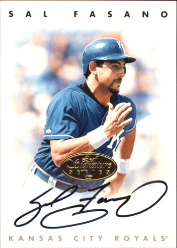 Photo of 1996 Leaf Signature Autographs Gold #65 Sal Fasano