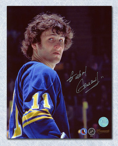 Gilbert Perreault Buffalo Sabres Autographed Close Up 8x10 Photo