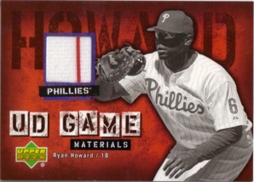 Photo of 2006 Upper Deck UD Game Materials #RH2 Ryan Howard Jsy S2